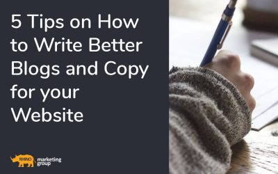 5 tips on how to write better blogs and copy for your website
