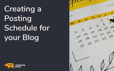 Creating a Posting Schedule for your Blog