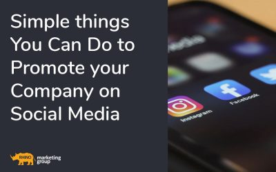 Simple things you can do to promote your company on Social Media
