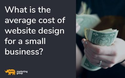 What is the average cost of website design for a small business?
